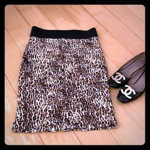 ❤️❤️ High Waist Leopard Print Midi Skirt M❤️❤️